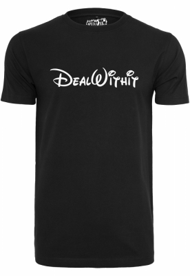 Deal With It Tee negru Turn Up