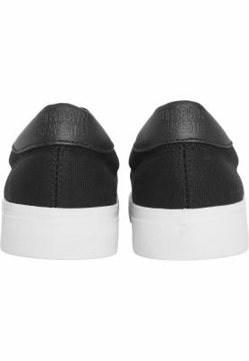 Espadrile cu siret negru-alb Urban Classics