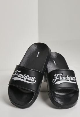 Frankfurt City Slides negru-alb Schlappos