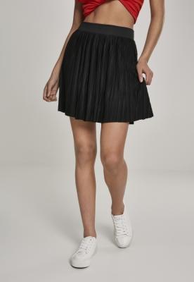 Fusta mini plisata Jersey pentru Femei negru Urban Classics