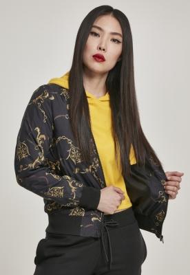 Geaca AOP pentru Femei luxury-negru Urban Classics