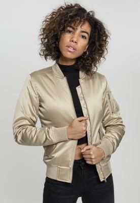 Geaca bomber aspect satin femei auriu Urban Classics