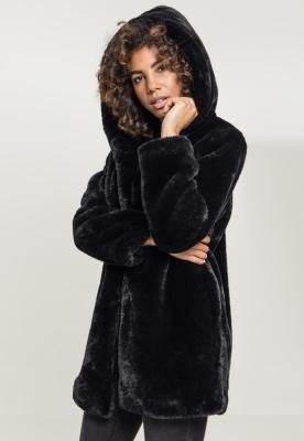 Geaca cu gluga Teddy pentru Femei negru Urban Classics