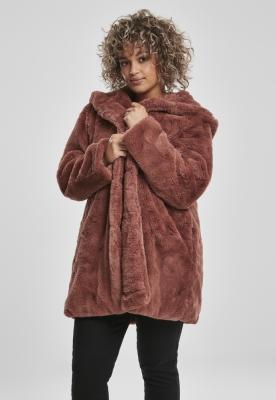 Geaca cu gluga Teddy pentru Femei roz Urban Classics