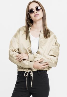 Geaca Kimono Satin pentru Femei auriu Urban Classics