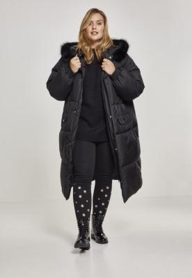 Geaca lejer blana artificiala Puffer pentru Femei negru-negru Urban Classics