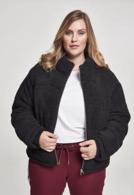 Geaca matlasata Boxy Sherpa pentru Femei negru Urban Classics