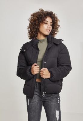 Geaca matlasata Boyfriend pentru Femei negru Urban Classics