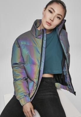 Geaca matlasata Iridescent Reflectiv pentru Femei multicolor-argintiu Urban Classics