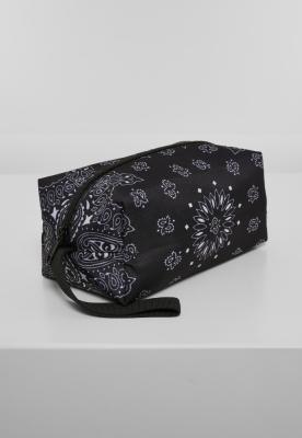 Geanta cosmetice Bandana Print negru Urban Classics