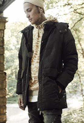 Geci de iarna cu gluga Heavy negru Urban Classics