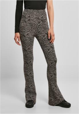 Ghete Colanti cu talie inalta imprimeu zebra Cut pentru Femei gri-negru Urban Classics