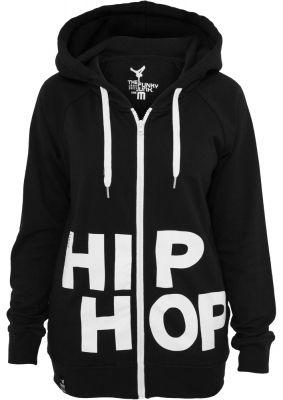 Hanorace hip hop femei cu femoar negru-alb Urban Dance