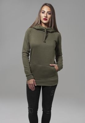 Hanorac cu guler inalt Raglan pentru Femei oliv Urban Classics