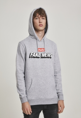 Hanorac Fake News deschis-gri Mister Tee