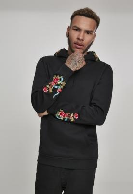 Hanorac Flowers Embroidery negru Mister Tee