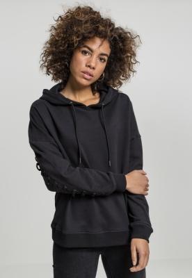 Hanorac Laced-Up pentru Femei negru Urban Classics