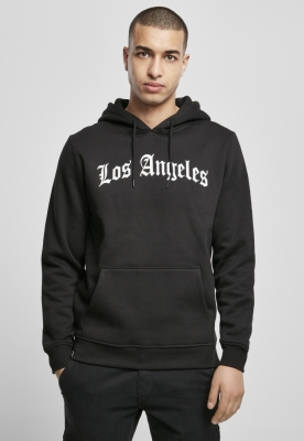 Hanorac Los Angeles Wording negru Mister Tee