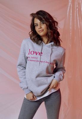 Hanorac Love Definition pentru Femei gri deschis Mister Tee