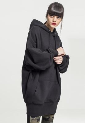 Hanorac lung oversized pentru Femei negru