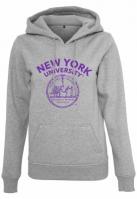 Hanorac NYU purple Logo pentru Femei deschis-gri Merchcode