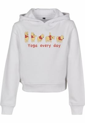 Hanorac scurt Yoga Every Day pentru Copii alb Mister Tee