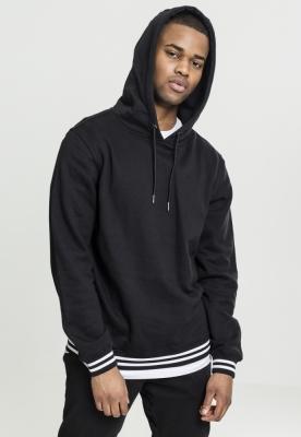 Hanorac simplu model sport College negru-negru