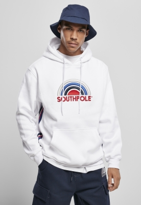 Hanorac Southpole Multi Color Logo alb