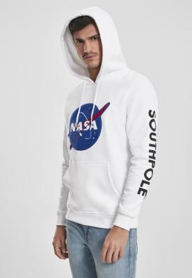 Hanorac Southpole NASA Insignia Logo alb