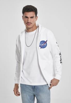 Hanorac Southpole NASA Insignia Logo cu fermoar alb