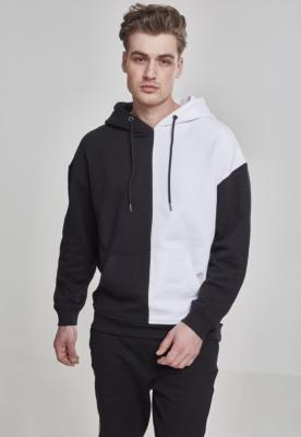 Hanorac supradimensionat Harlequin negru-alb Urban Classics