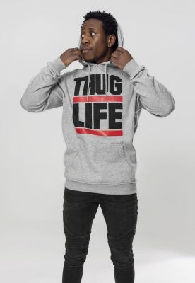Hanorac Thug Life Block Logo gri Mister Tee
