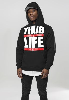 Hanorac Thug Life Block Logo negru Mister Tee
