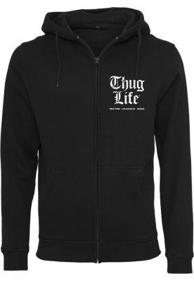 Hanorac Thug Life Chest Cities cu fermoar negru Mister Tee