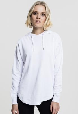 Hanorace largi supradimensionate cu gluga pentru Femei alb Urban Classics