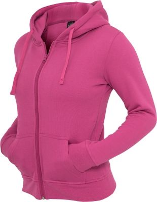 Hanorace urban simple cu fermoar fucsia Urban Classics