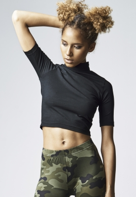 Helanci scurte cu maneca trei sferturi pentru Femei negru Urban Classics