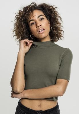 Helanci scurte cu maneca trei sferturi pentru Femei oliv Urban Classics