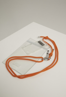 Husa de gat telefon cu Additionals I Phone 8 transparent-portocaliu Urban Classics