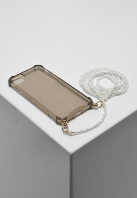 Husa telefon Colier cu Pearl I Phone 678 negru Urban Classics