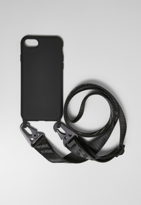 Husa telefon cu Logo Strap I Phone 678 negru Urban Classics