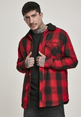 Jacheta captusita Shirt negru-rosu Urban Classics
