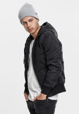 Geaca Hooded Big Diamond Quilt Urban Classics