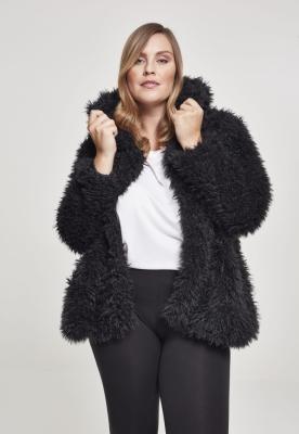 Jacheta cu gluga Teddy pentru Femei negru