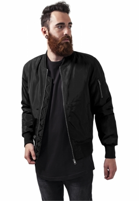 Jacheta doua culori Bomber negru-negru