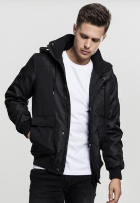 Jacheta Heavy cu gluga negru Urban Classics