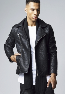 Jacheta imitatie piele Biker negru Urban Classics