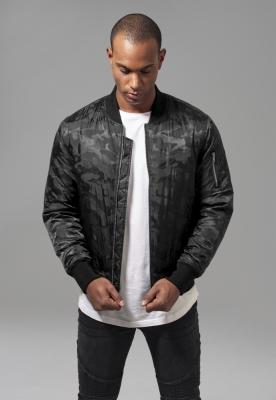 Jacheta model camuflaj Bomber negru Urban Classics