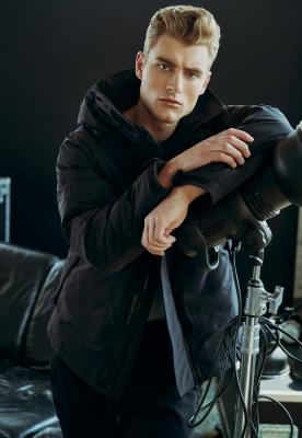 Jacheta Multipocket iarna negru Urban Classics