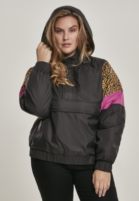 Jacheta Pulover AOP Mixed pentru Femei negru-leopard Urban Classics
